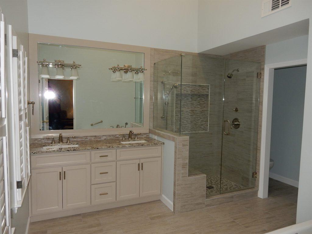 Dunwoody Master Bathroom Remodel Custom Mirror