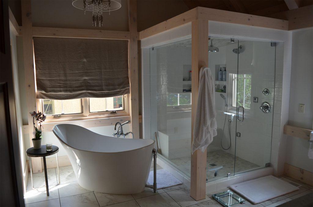 Luxury Bathroom Renovation Steam Shower Free Standing Bath Tub