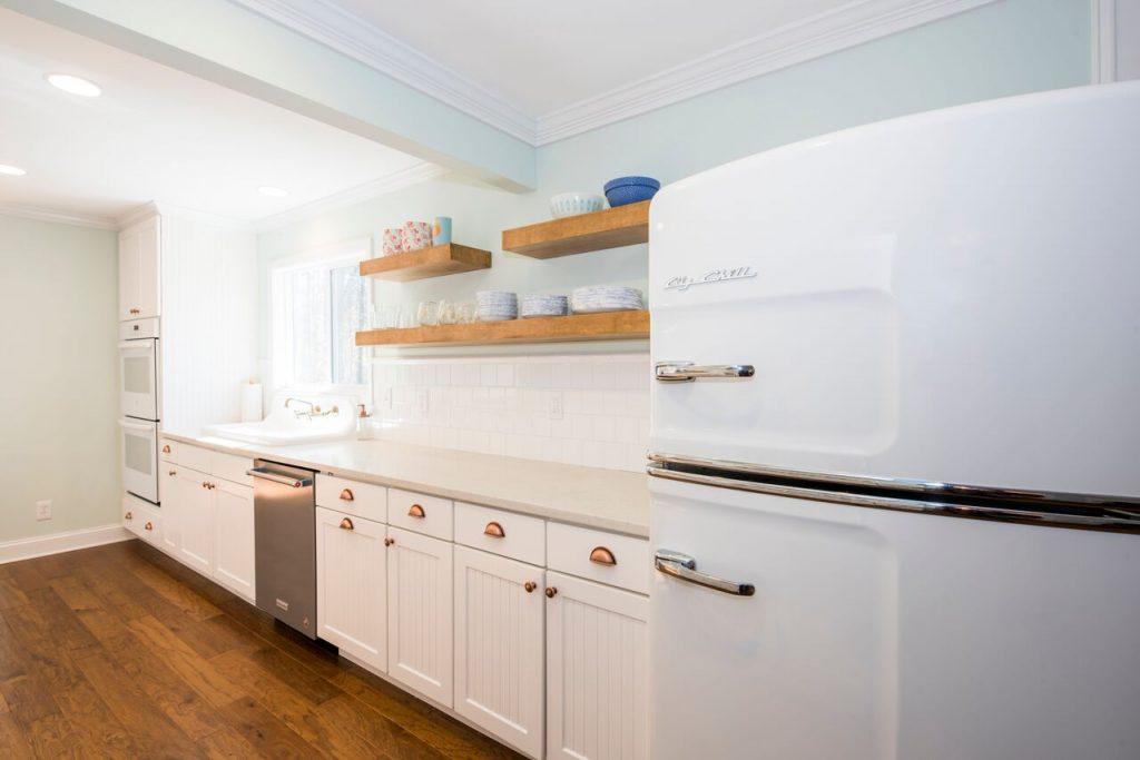 Kitchen Remodel with Custom Floating Shelves