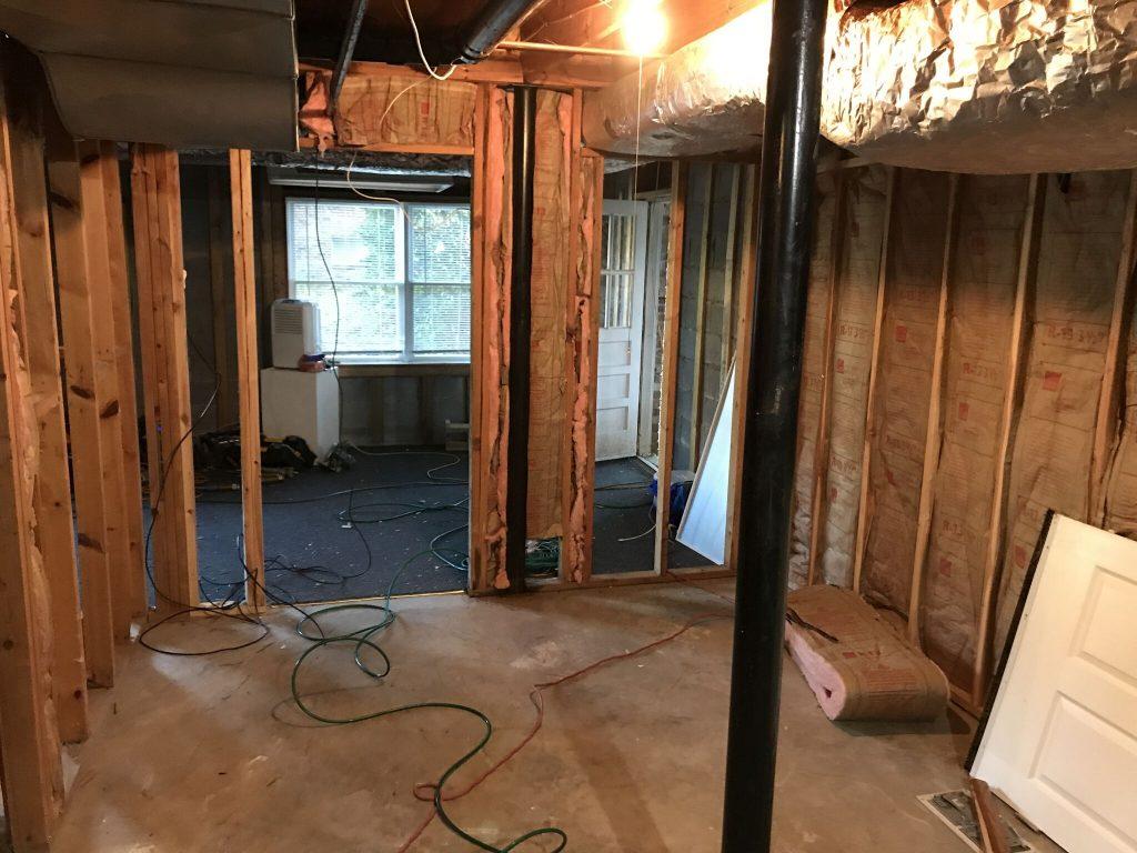 Before Dunwoody Bathroom Remodel in Basement