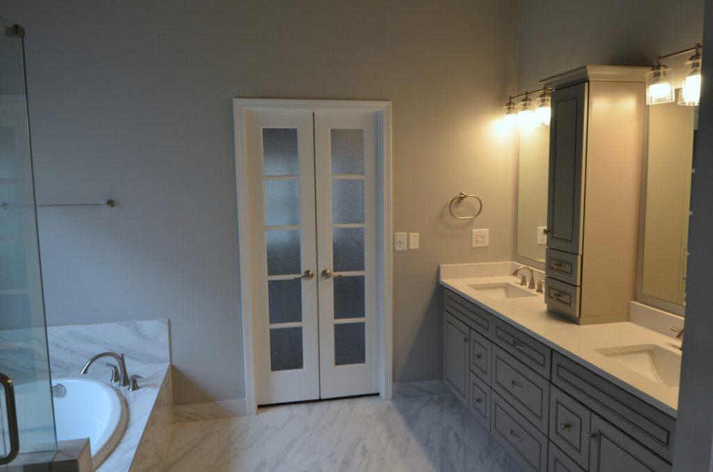 Dunwoody Bathroom Remodeling with Double French Door